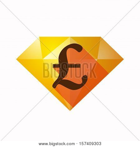 Isolated Diamond With A Pound Sign