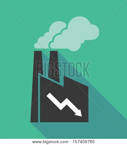 Factory Icon With A Descending Graph