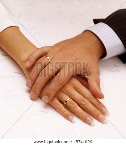 wedding day hands