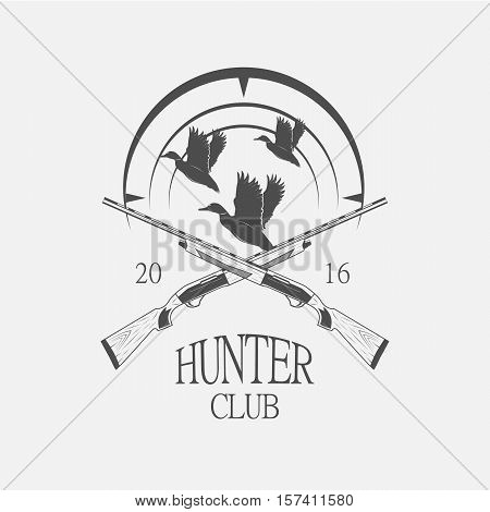 vintage clay target and gun club labels. Duck hunting