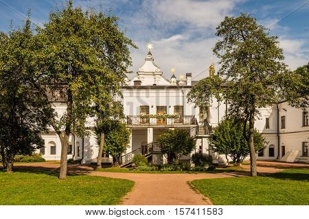 Kyiv Ukraine - September 20 2014: Metropolitan House - an architectural monument of the XVIII century the former for 200 years the seat of the Metropolitan of Kiev and now - a museum as part of the national reserve Sophia of Kyiv on Saint Sophia Cathedral