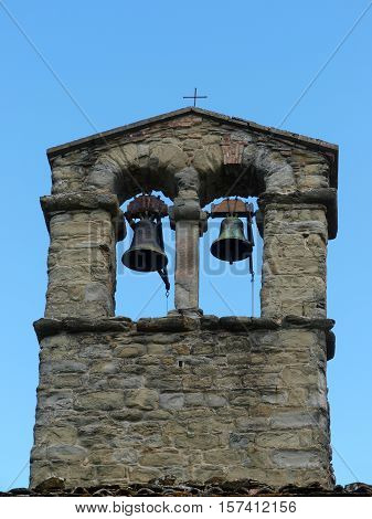 The belfry of the church of Saint Christopher in Cortona
