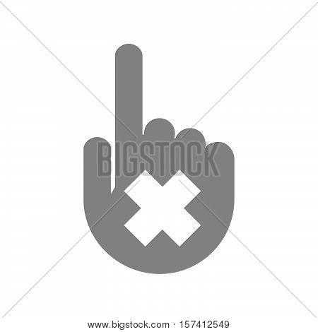 Isolated Hand With An Irritating Substance Sign