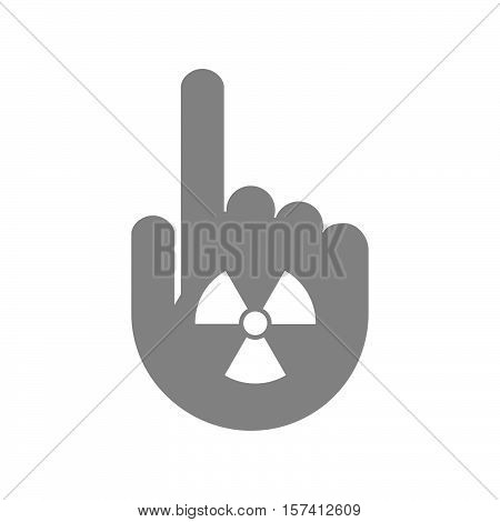 Isolated Hand With A Radio Activity Sign