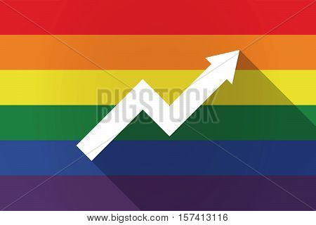Long Shadow Lgbt Flag With A Graph