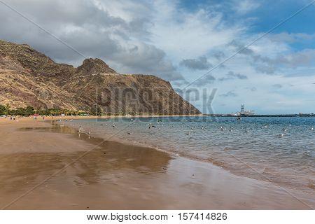 Las Teresitas beach in Tenerife (Canary Islands, Spain)