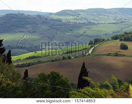 The landscape of the Val d'Orcia. Tuscany. Italiy