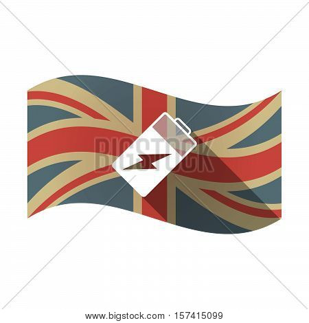 Isolated Uk Flag With A Battery