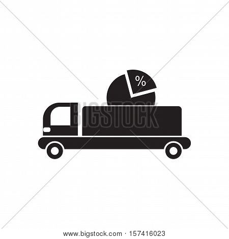 Flat icon in black and white  car diagram