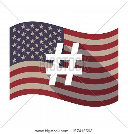 Long Shadow Usa Flag With A Hash Tag