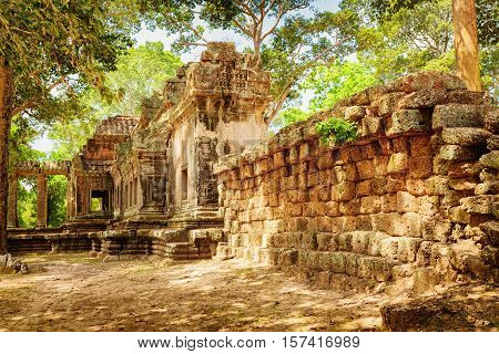 Side View Of Ta Kou In Angkor Wat Complex . Siem Reap, Cambodia
