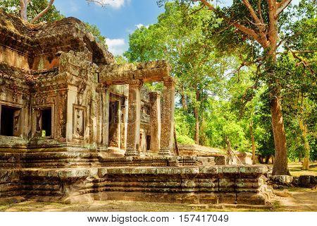 Ta Kou Entrance (east Gate) In Angkor Wat. Siem Reap, Cambodia