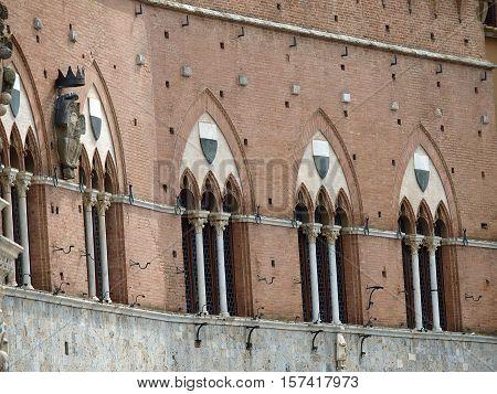 Siena - Palazzo Pubblico and Torre del Mangia.