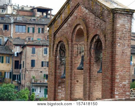 Siena - the old bell tower near the church of San Domenico