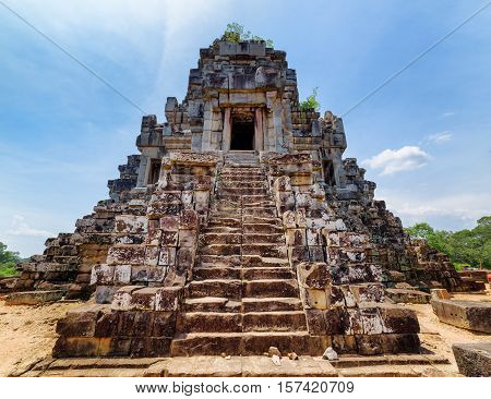 Stairs Leading To Top Of Temple-mountain Of Ta Keo, Angkor