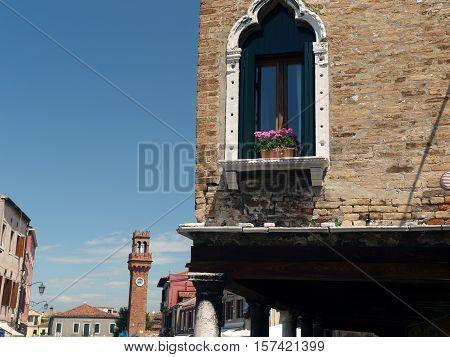 Fondamenta dei Vetral on  Murano Island. Italy