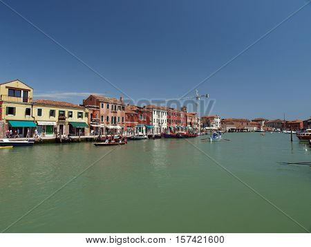 VENICE, ITALY - MAY 23, 2010:View of Canal Grande di Murano Venice Italy