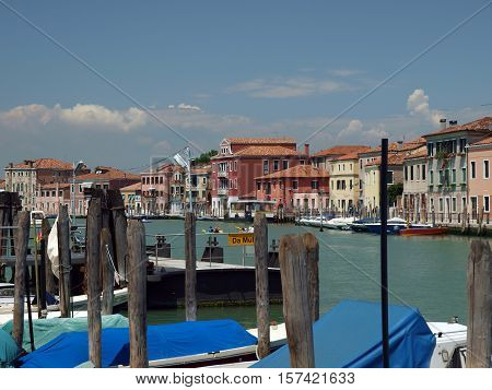 VENICE, ITALY - MAY 23, 2010: View of Canal Grande di Murano Venice Italy