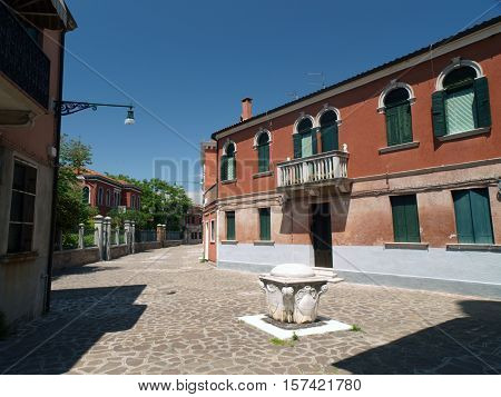 VENICE, ITALY - MAY 23, 2010: The island of Murano near Venice. Famous for making decorative glass
