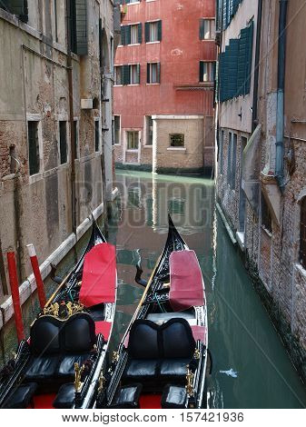 VENICE, ITALY - MAY 23, 2010: Venice - peaceful and charming district of San Marco
