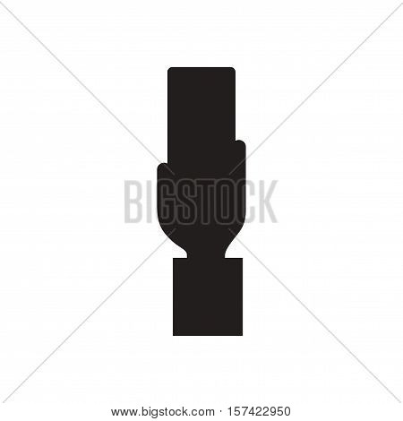 Flat icon in black and  white football referee Card