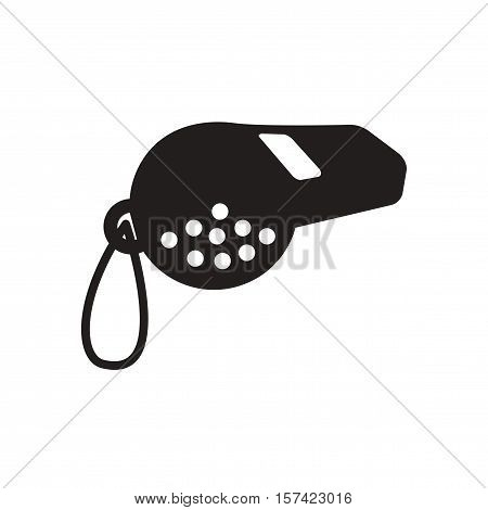 Flat icon in black and  white whistle