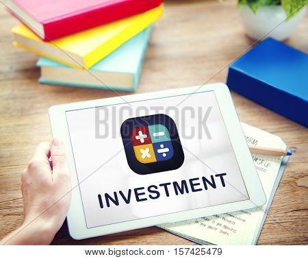 Calculator Financial Function Buttons Concept