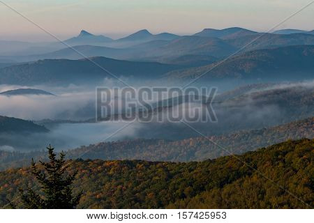Whispy Fog In Appalachian Mountains