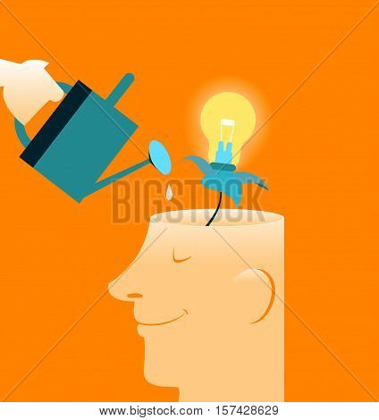 Care brain. New features. There is a growing idea. Human Brain, Contemplation