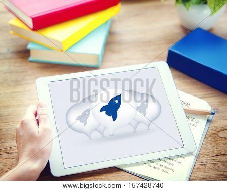 Launch Begin Start Up Kick Off New Business Concept