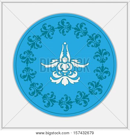 Stilized abstract flower design logo. Lotus position.
