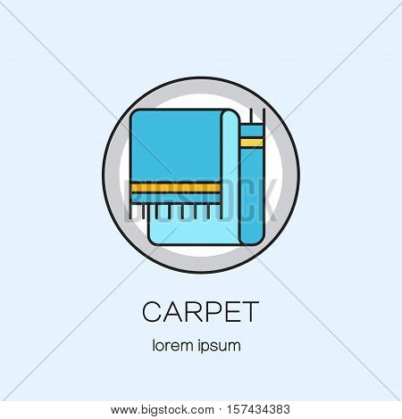 Carpeting shop DIY line icon logotype design templates. Modern easy to edit logo template. Vector logo design series.