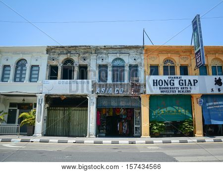 Old Buildings At George Town In Penang, Malaysia