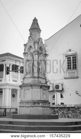 British Colonial Monument At George Town