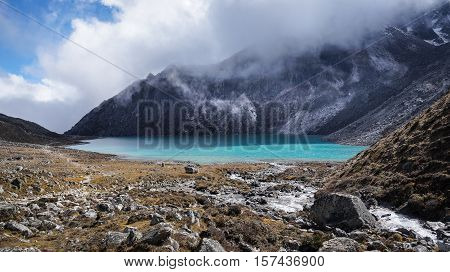 Himalaya, Himalayan Mountains And Lake