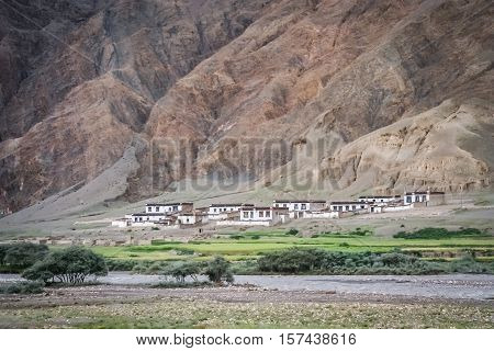 Traditional tibetan homes in one of the small tibetan villages, Eastern Tibet