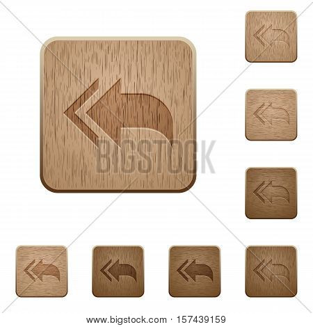 Reply to all icons in carved wooden button styles
