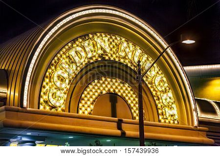 The Golden Nugget Hotel And Casino In Downtown Las Vegas