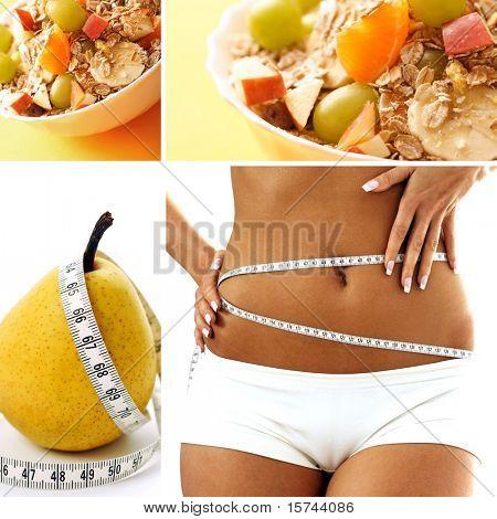 diet food collage