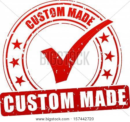 Illustration of custom made stamp icon on white background