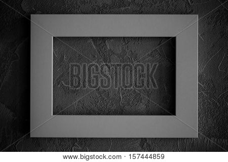 Abstract grunge wall with picture frame. grunge wall background with space for text or image.