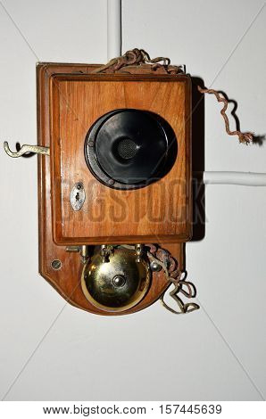 antique phone eqipment with speaker and bell