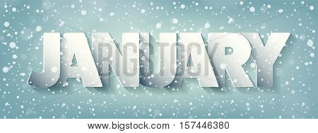 Winter Christmas, xmas new year card. Typography. Holidays.January.