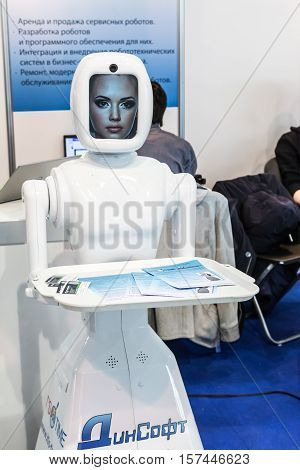 Moscow Russia November 20 2015: The 3rd International Exhibition of Robotics and advanced technologies