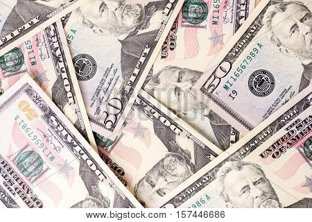 Fifty US Dollar Bills Background high quality and high resolution studio shoot