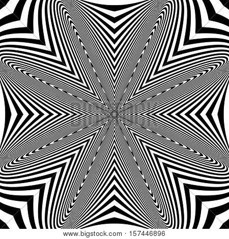 Abstract op art pattern. Vector illustration.