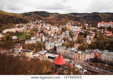 Beautiful scene, Karlovy Vary, (Carlsbad), west Bohemia, Czech Republic