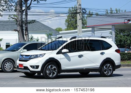CHIANG MAI THAILAND - OCTOBER 27 2016: Private New suv car Honda BRV. On road no.1001 8 km from Chiangmai Business Area.