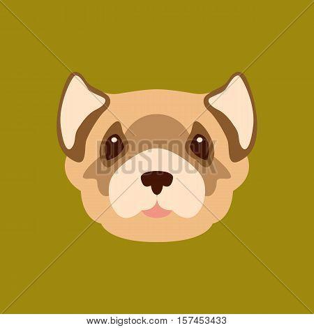 Black-Footed Ferret head  vector illustration style Flat