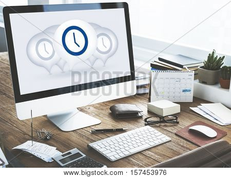 Time Management Punctual Duration Minute Hour Concept